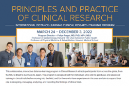 PROGRAMA PRINCIPLES AND PRACTICE OF CLINICAL RESEARCH 2022